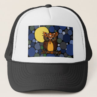 Colorful Original Owl Abstract Art Design Trucker Hat