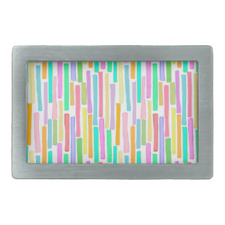 Colorful original painting bright color stripes belt buckle