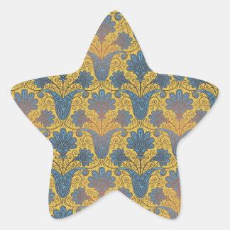 colorful ornate damask.ai star sticker