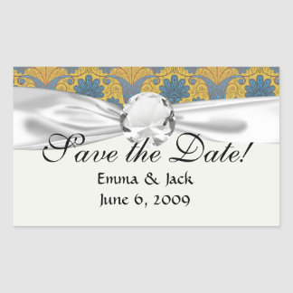 colorful ornate damask rectangle stickers