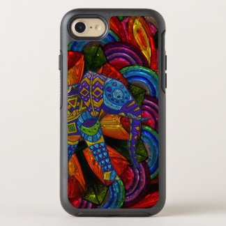 Colorful Ornate Elephant and Mandala OtterBox Symmetry iPhone 8/7 Case