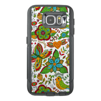 Colorful Ornate Retro Flowers & Butterflies
