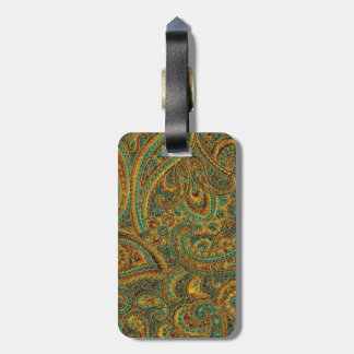 Colorful Ornate Retro Paisley Luggage Tag