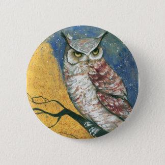 colorful owl 6 cm round badge