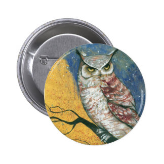 colorful owl 6 cm round badge