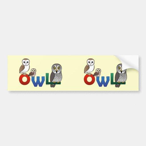 Colorful Owl Bumper Sticker