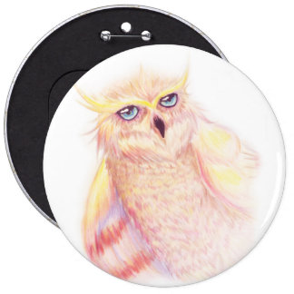 Colorful Owl Button