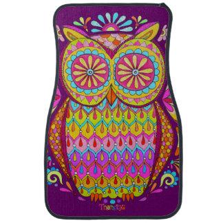 Colorful Owl Car Mats - Front Set of 2 Mats Floor Mat