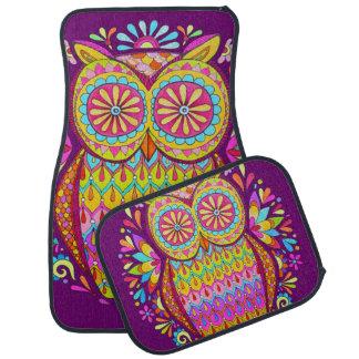 Colorful Owl Car Mats - Full Set of 4 Mats Car Mat