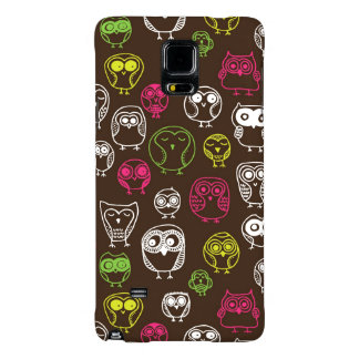 Colorful owl doodle background pattern galaxy note 4 case