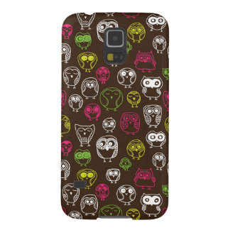 Colorful owl doodle background pattern galaxy s5 cases