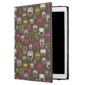 "Colorful owl doodle background pattern iPad pro 12.9"" case"