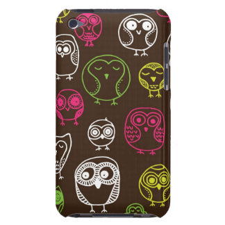 Colorful owl doodle background pattern iPod touch covers
