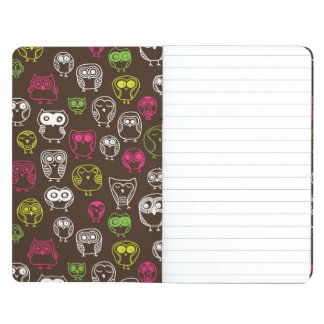 Colorful owl doodle background pattern journal
