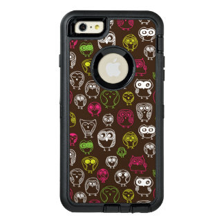 Colorful owl doodle background pattern OtterBox iPhone 6/6s plus case