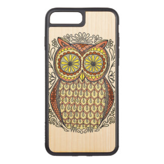Colorful Owl Illustration Carved iPhone 7 Plus Case