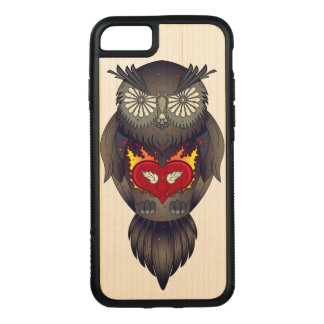 Colorful Owl Illustration Carved iPhone 8/7 Case