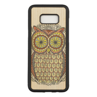 Colorful Owl Illustration Carved Samsung Galaxy S8+ Case