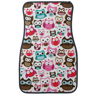 colorful owl pattern car mat