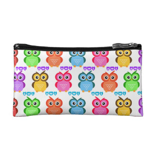 Colorful Owl Pattern Cosmetic Bags