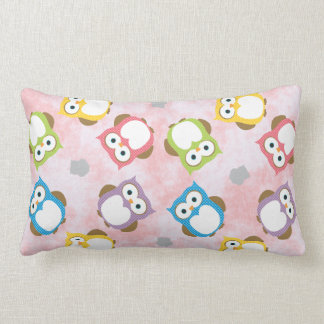 Colorful Owl Pattern Pillow