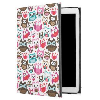 "colorful owl pattern iPad pro 12.9"" case"