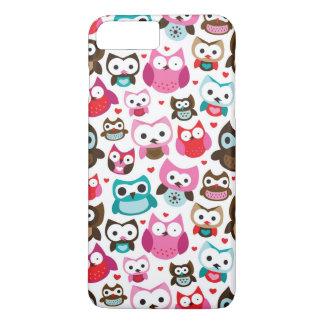 colorful owl pattern iPhone 8 plus/7 plus case