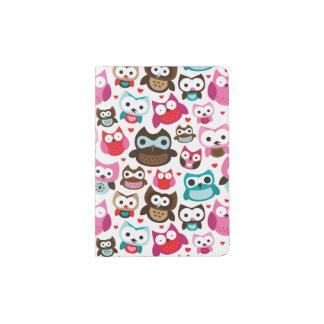 colorful owl pattern passport holder