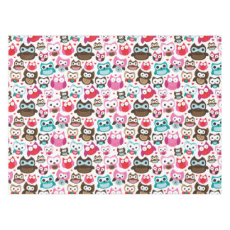 colorful owl pattern tablecloth