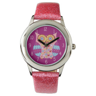 Colorful Owl Watch - Retro & Groovy!