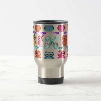 Colorful Own Monogram Travel Mug