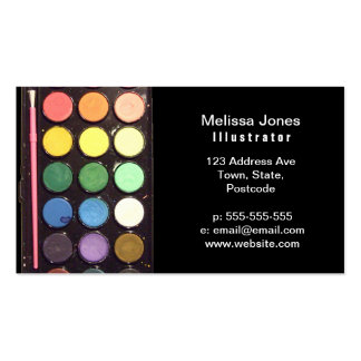 Colorful Paint Box Rainbow Business Card Templates
