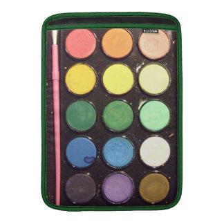 Colorful Paint Box Rainbow MacBook Sleeve