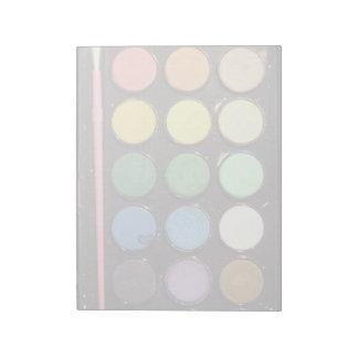 Colorful Paint Box Rainbow Notepad
