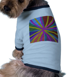 Colorful Paint Doodle Lines Converging Pin Wheel Doggie Tee