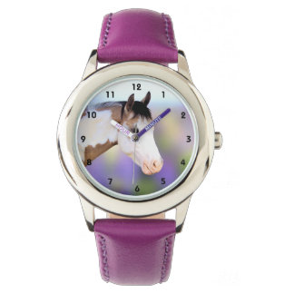 Colorful Paint Horse Kids Watch