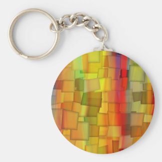 COLORFUL PAINT RAINBOW ART 3 BASIC ROUND BUTTON KEY RING