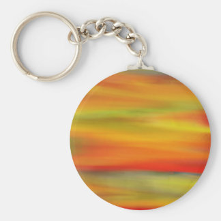 COLORFUL PAINT RAINBOW ART 4 BASIC ROUND BUTTON KEY RING