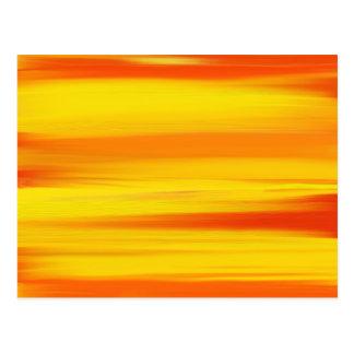 COLORFUL PAINT RAINBOW ART 4 POSTCARD
