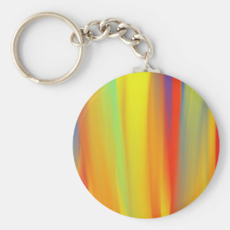 COLORFUL PAINT RAINBOW ART BASIC ROUND BUTTON KEY RING