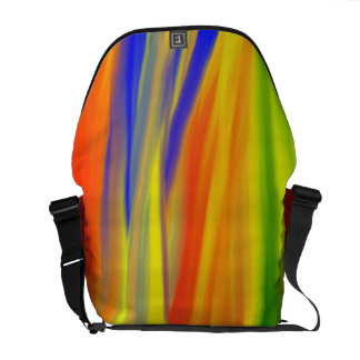COLORFUL PAINT RAINBOW ART COURIER BAGS