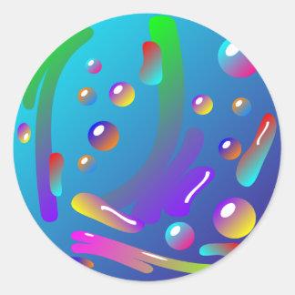 Colorful Paint Splash Sticker