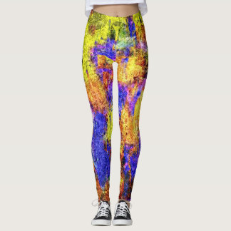Colorful Paint Splatter #9 Leggings
