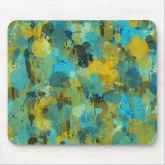 Colorful paint splatter artistic design mouse pads