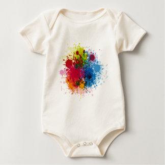 Colorful Paint Splatter Baby Bodysuit