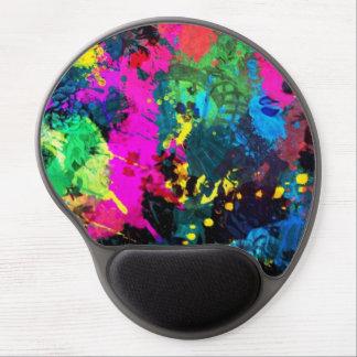 colorful paint splatter gel mouse pads