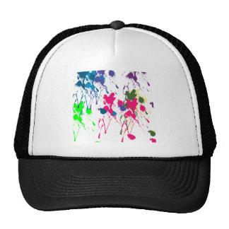 Colorful paint splatter trucker hat
