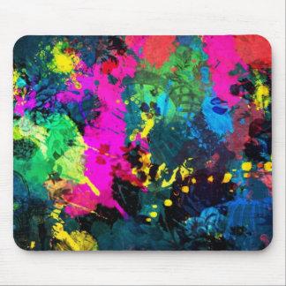 colorful paint splatter mousepads