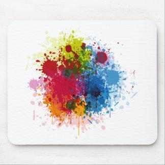 Colorful Paint Splatter Mousepad