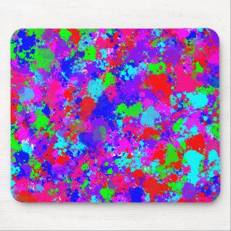 Colorful Paint Splatter Pattern Mousepad